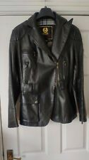 Belstaff Gold Label Asymmetrical All Leather Jacket DarkBrown Size 34/XS-S *VGC*