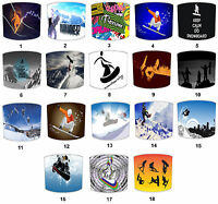 Snowboarding Lampshades Ideal To Match Wallpaper & Snowboarding Wall Murals.