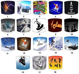 Snowboarding Lampshades Idéal Pour Assorti Snowboard Accessoires & Snowboards