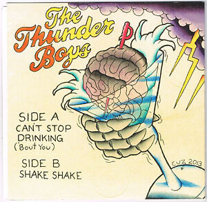 """Thunder Boys 7"""" Garage Punk Colored Vinyl Heartbreakers Gearhead Records Signed"""