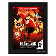 DISNEY PIXAR THE INCREDIBLES Framed Film Movie Poster A4 Black Frame