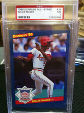 1986 Donruss All-Stars # 36 Willie McGee PSA NM-7          21622498