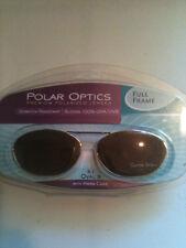 Polar Optics Clipons Sunglasses Polarized Lenses Oval