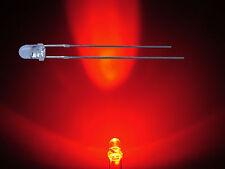 50 St. 3mm Led Leds ROT 25° Gehäuse klar 9000 mcd