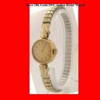 Mint 18k Gold IWC Ladies Deco Bracelet Wrist Watch 1965