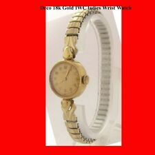 Mint 18k Gold IWC Ladies Deco Bracelet Wrist Watch 1965