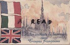 WW1 Military Patriotic postcard depicting French - Italian relations April 1918