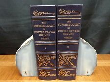 SUPREME COURT IN UNITED STATES HISTORY - 2 VOL Legal Classics Lib Leather Warren