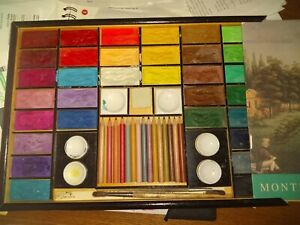 Old English Art Studio. Xonex. Art Set. Slide Box. Water Colors. Used.
