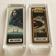 Star Wars Rogue One + The Force Awakens Premiere Disney Golden Ticket Galaxy SET