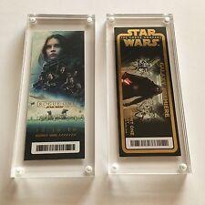 Star Wars Rogue One + The Force Awakens Premiere Disney Golden Ticket Galaxy SET
