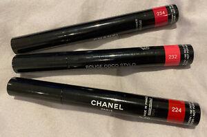 Chanel New Rouge Coco Stylo Lipstick 224 Memoire 234 Frambose Sensuelle 232 Rose