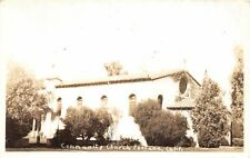 G77/ Fontana California Postcard RPPC c40s Community Church