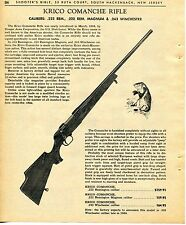 1965 Print Ad of Stoeger Arms Krico Momanche Rifle