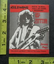 LED ZEPPELIN,JIMMY PAGE,Original Vintage cloth commemorative pass