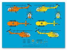 Peddinghaus 1/87 ep 3278 BO 105 Rettungshubschrauber der Luftrettung, 3 Kennunge