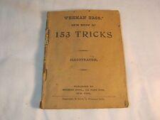 Wehman Bros Magic Book 153 Tricks Antique Book T*