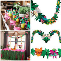 1PC Tropical Paper Garland Hawaii Party String Colorful Tissue Banner Decor 3M