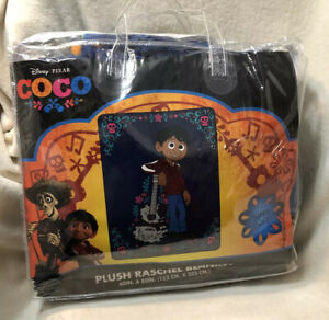 Disney Pixar Coco Plush  Raschel Blanket Throw 60x80 Twin Size NEW Super Soft