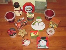 Christmas Gift Box Lot of 15 Decorative & Unique No Wrap Holiday Gifting Boxes