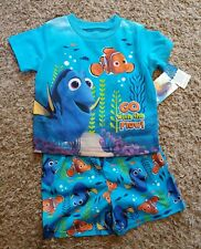 """2 Piece FINDING DORY Toddler Boy's """"GO with the FLOW""""  Pajamas Shorts & Shirt 4T"""