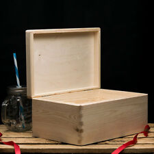 Wooden box with lid,  Plain wooden boxes, Wooden Storage Box, 30x20x14cm