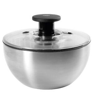 New Oxo Good Grips Steel Vegetable Salad Spinner Lettuce Dryer Container Bowl