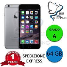 IPHONE 6 RIGENERATO GRADO A 64GB 64 GB NERO ORIGINALE APPLE + GARANZIA 1 ANNO