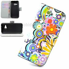 Stand Leather Phone Flip Wallet Card Pouch Case Cover For HTC One M4 M7 M8 Mini