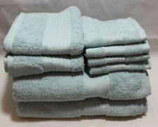 Ralph Lauren Greenwich Eight Piece Bathroom Towel Set Solid Blue New