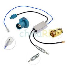 Car DAB DAB+ AM FM Stereo Radio Antenna Aerial Splitter Fakra to Din and SMB