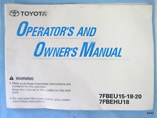Toyota Heavy Equipment Manuals Books For Forklift Sale. Toyota 7fbeu 7fbehu Forklift Owner Operator Operation Manual Book. Toyota. Toyota Forklift 6hbe30 Wiring Diagram At Scoala.co