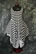 Layered Look Refined Asymmetric Zipfel-Kleid Stripes White XL,XXL,XXXL