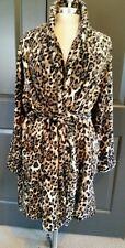 Soma Intimates Embraceable Short Plush Robe Wrap Leopard Jaguar L/XL