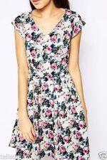 Cotton Blend Tunic Machine Washable Floral Dresses for Women