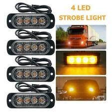 Amber 4 LED Car Truck Emergency Beacon Warning Hazard Flash Strobe Light Bar RF