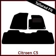 CITROEN C5 Mk1 2001-2007 Totalmente a Medida Alfombra Tapetes Coche Negro Equipada