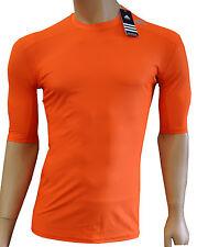 adidas L + XL Techfit T-Shirt Shirt Fitnessshirt Unterziehshirt Laufshirt orange