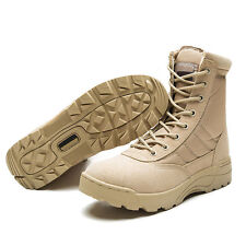 Forced Leather Tactical Deployment Boot Military SWAT Boots Duty Work US 5-11