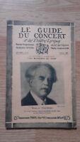 El Guía de La Concierto Y Las Teatro Letra - Marciano Thalberg - N º 18-1928