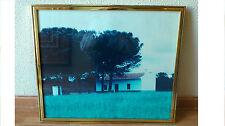 Cuadro fotografia paisaje ya enmarcado, decoracion rustica y campestre.