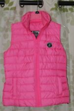 Abercrombie&Fitch A&F Women's Mandy Cozy Quilted Puff Vest Pink $120 NEW S