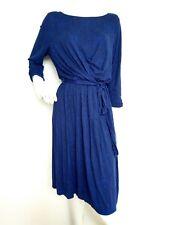 Hobbs London casual jersey dress size 16 knee length 3/4sleeve Belted flattering