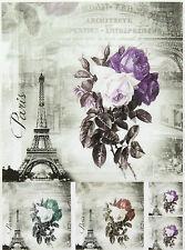 Carta di riso per decoupage, foglio di album, Craft Parigi in colori