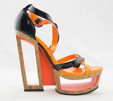 Open Peep Toe Stiletto High Heel Platform Pumps Stripper Dancer Shoes Size 7.5