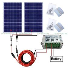 2*100W Solar Panel Kit: 200Watts Photovoltaic Solar Panel for 12V Car Home Boat