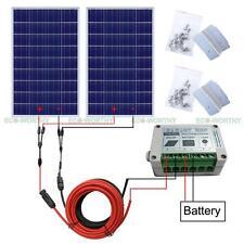 2*100W Solar Panel Kit: 200Watts Photovoltaic Solar Panel for 12V Car Home Boat