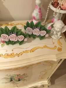 Shabby Chic Roses Resin Floral Drapery Curtain Tieback Holders