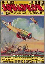 Vintage Pulp Magazine~SQUADRON #3~Sept. 1934 George Bruce+ LEO MOREY Cover!