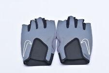 Men's Nike Fitness Training Gloves w/ Elastic, Grey w/ White Logo, Large